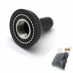 Trendbox 1 Pack 200pcs Black 6mm Mini For Toggle Switch Rubber Water Resistance