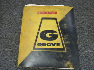 Grove Model Rt518 Rough Terrain Crane Parts Catalog Manual Book