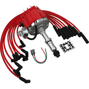 Hei Distributor And Plug Wire Set For Buick Chevy Pontiac Olds 231 252 Even Fire