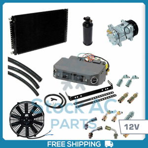 Brand New A C Kit Universal Under Dash Compressor Kit Air Conditioner 12v