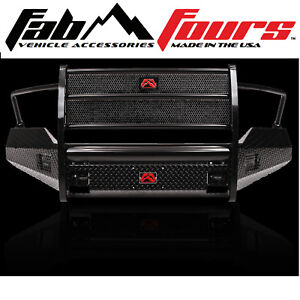 Fab Fours Full Guard Black Steel Half Ton Front Bumper 2009 2012 Dodge Ram 1500