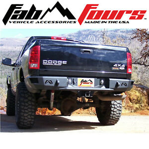 Fab Fours Premium Hd Matte Black Rear Bumper 2003 2009 Dodge Ram 2500 3500