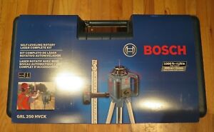 Bosch Self leveling Rotary Laser Complete Kit With Case Brand New grl 250 Hvck