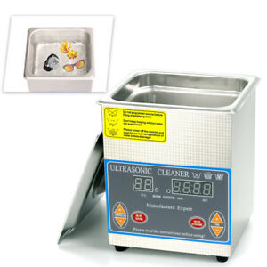 Industry 2l Ultrasonic Cleaner Stainless Steel Digital Timer Heat Cleaning Tank