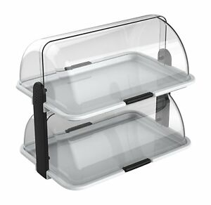 Cuisinox Double decker Countertop Bakery Display Case White