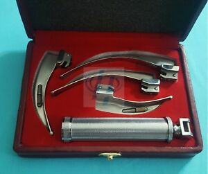 4 Blades And One Handle Laryngoscope Macintosh Intubation Emt Anesthesia Set