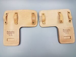 Pair Buckingham Mfg 3122 Climber L Pads Spur Pads Gaff Pads Heavy Padded Leather