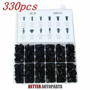 330 Clips Automotive Push Pins Retainers Assortment For Gm Ford Toyota Honda Bmw