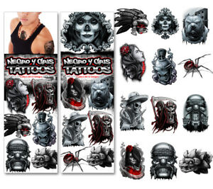 Sticker Flat Vending Machine Capsule Toys Negro Y Gris Tattoos