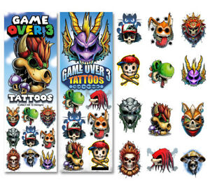 Sticker Flat Vending Machine Capsule Toys Game Over 3 Tattoos