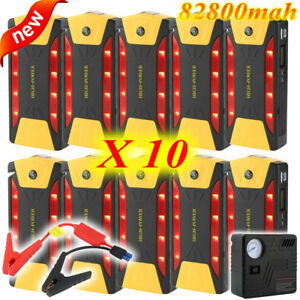 Lot 10x 82800mah Portable Battery Jump Starter Air Compressor Car Booster Jumper