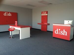 Dish Network Retail Showroom Set And Outdoor Sign