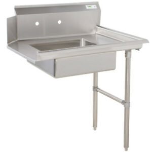 Commercial Stainless Steel Right Side Dirty Soiled 48 Dish Washer Table Sink 4