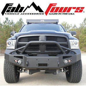 Fab Fours Pre Runner Premium Hd Winch Front Bumper For 13 18 Dodge Ram 1500