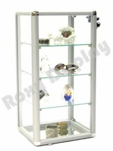 Counter Top Glass Showcase With Aluminum Frame And Lock