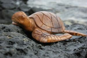 Carved Hawaiian Turtle Honu 12 Natural Hand Carved Yu40330n