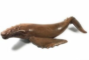 Exquisite Hawaiian Humpback Whale 40 Hand Carved Dal12