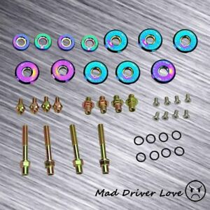 B16a B18c Vtec Gsr Type R Engine Valve Cover Bolt Washer Dress Kit Neo Chrome