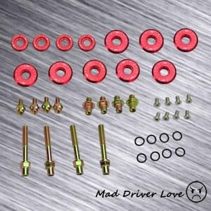 For B16a B18c Dohc Vtec Gsr Type R Engine Bolt Washer Nut Valve Cover Kit Red