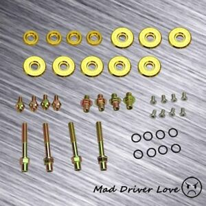 For B16a B18c Dohc Vtec Gsr Type R Engine Bolt Washer Nut Valve Cover Kit Gold