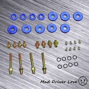 For B16a B18c Dohc Vtec Gsr Type R Engine Bolt Washer Nut Valve Cover Kit Blue