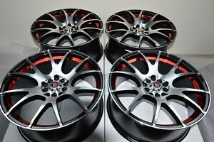 18 Rims Wheels Tires Legend Tl Mkz Mazda 3 5 6 Milan Eclipse Civic 5x100 5x114 3
