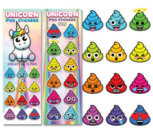 Tattoo Flat Vending Machine Capsule Toys Unicorn Poo Stickers