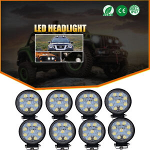 8pcs 4 Spot Work Led Light Bar John Deere 9400 9500 9600 430 435 Tractor 12v