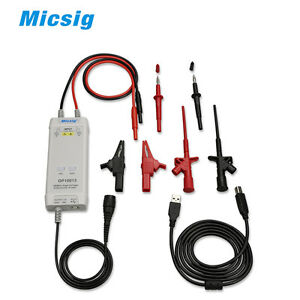 Micsig Oscilloscope High Voltage Differential Probe Kit Dp10013 1300v 100mhz New