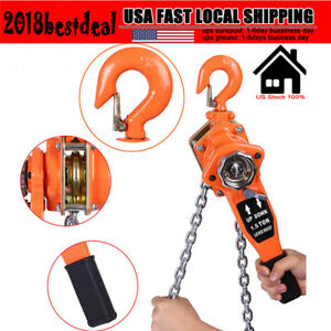 Chain Hoist Block Tackle 0 75t 1 5t 3t 3m Winch Capacity Engine Lift Puller Fall