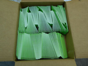 Green Unstrung Paper Gift Shipping Tags 900 4 3 4 X 2 3 8 No String Or Wire