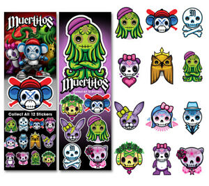 Tattoo Flat Vending Machine Capsule Toys Muertitos Stickers