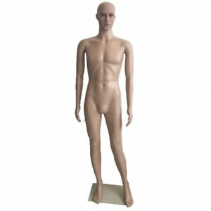 Male Full Body Realistic Mannequin Display Head Turns Dress Form Wbase