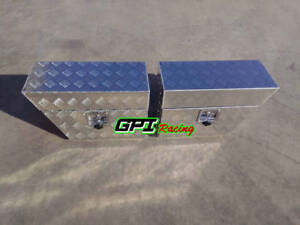 Pair Aluminium Undertray Under Tray Underbody Ute Tool Box Toolbox 24 x10 x16
