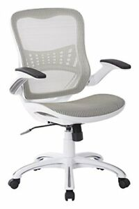 Office Star Mesh Back Seat 2 to 1 Synchro Lumbar Support Managers Chair Wh