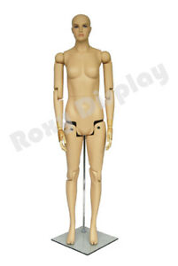 Flexible Realistic Articulated Female Mannequin Fleshtone