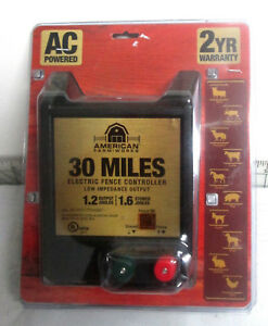 American Farm Works 30 Miles Electric Fence Controller Model 115v1j r New