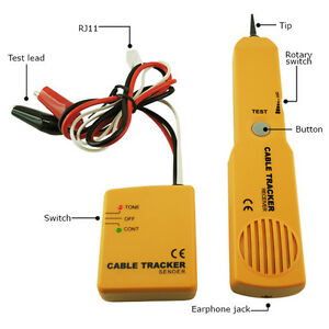Telephone Line Cable Tracker Wire Tracer Tester Sender And Reciever E04 026