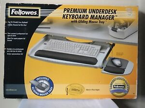 Fellowes Premium Underdesk Manager With Gliding Mouse Tray Keyboard