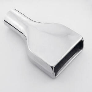 2 5 Inlet Square Stainless Steel Exhaust Tip 6 Wide 2 Height 10 Long Weld on