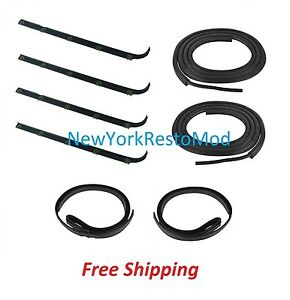 Window Sweep Run Channel Weatherstrip Seal Set Ford Bronco Pickup Truck F150 New