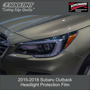 Headlight Protection Film By 3m Scotchgard For 2015 To 2018 Subaru Outback