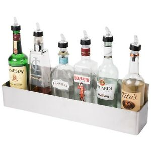 Bar Speed Rail Liquor Display Rack 24 Stainless Steel Single