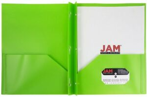 Jam Paper Eco friendly Plastic School Presentation Folder With Clasps