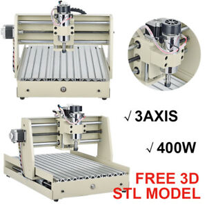 3040 400w 3 Axis Cnc Router Engraver Milling Drilling Machine Engraving software