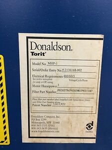 Donaldson Torit Mhp1 Machine Shop Edm Coolant Mist Collector 3 Stage Hepa Filter