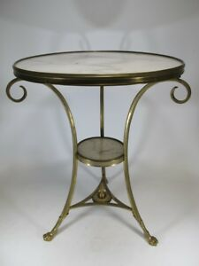 Antique French Bronze Marble Side Table 20051b