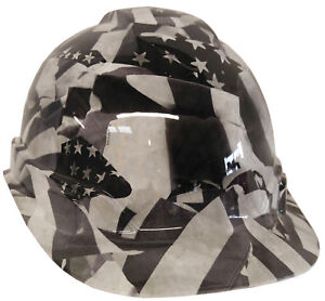 Hard Hat White American Flags W Free Brb Customs T shirt