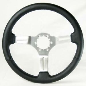 C3 Corvette 1968 1982 Leather Chrome Aluminum Steering Wheels 4 Color Options