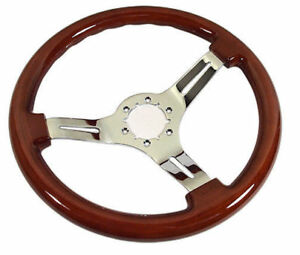 C3 Corvette 1968 1982 Mahogany Steering Wheels Mahogany W Chrome Spokes